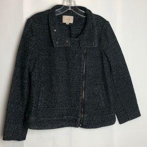 Women's Ann Taylor zip up jacket Sz M petite